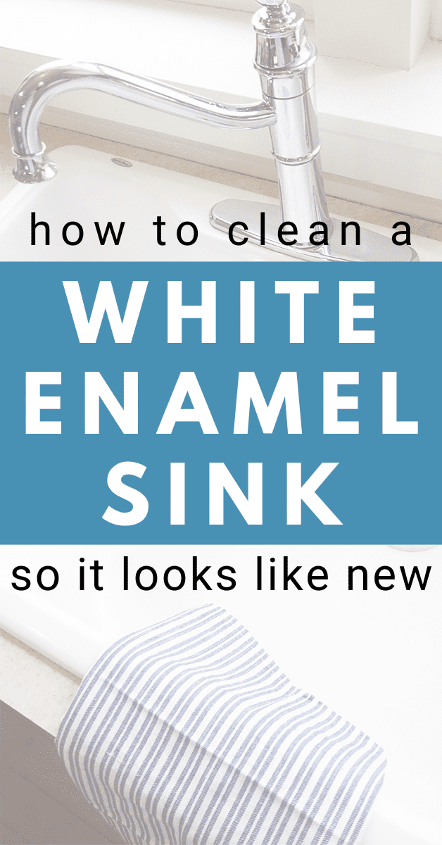 a shining white enamel kitchen sink