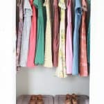 a closet full of girls dresses and shoes