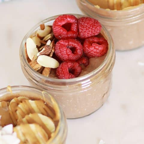 Healthy Chocolate Overnight Oats - Without Chia Seeds