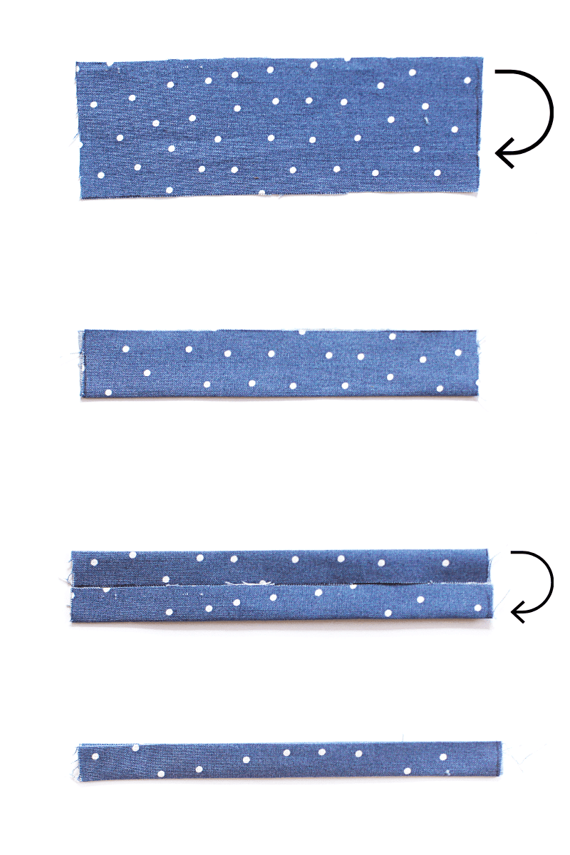 fabric folding and cutting directions