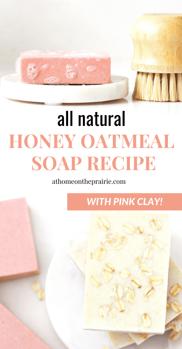 pink soap with oats