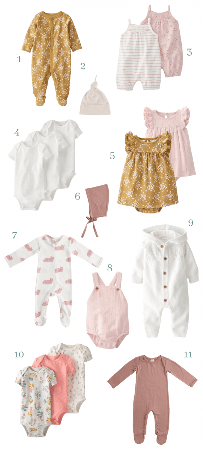 baby girl neutral colored baby clothes ideas