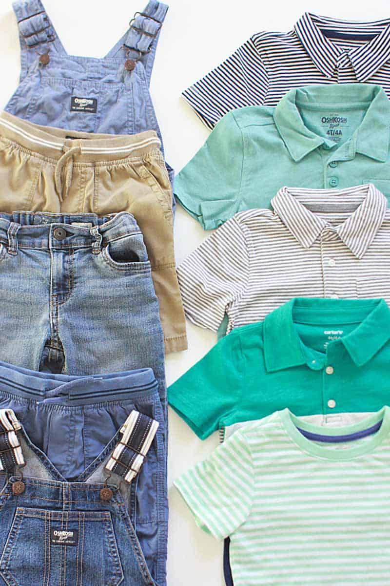 a toddler boys capsule wardrobe for summer